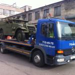 транспортировка военных машин