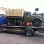 эвакуация старых военных автомобилей