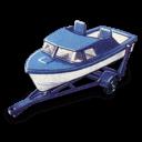 рисунок катера на эвакуаторе