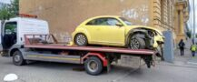VW beetle на эвакуаторе Тед Авто